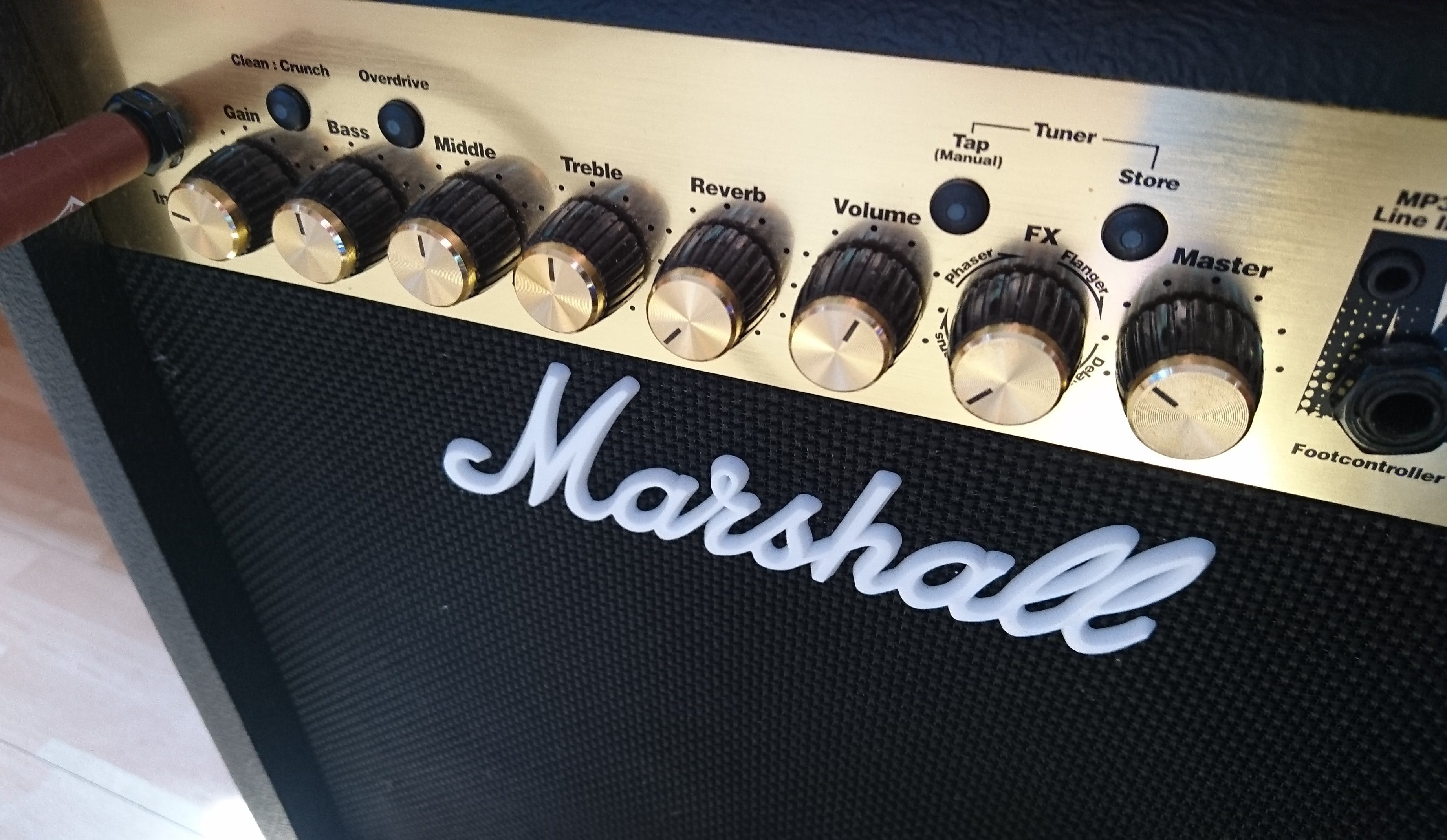 Black and Silver Marshall Guitar Amplifier