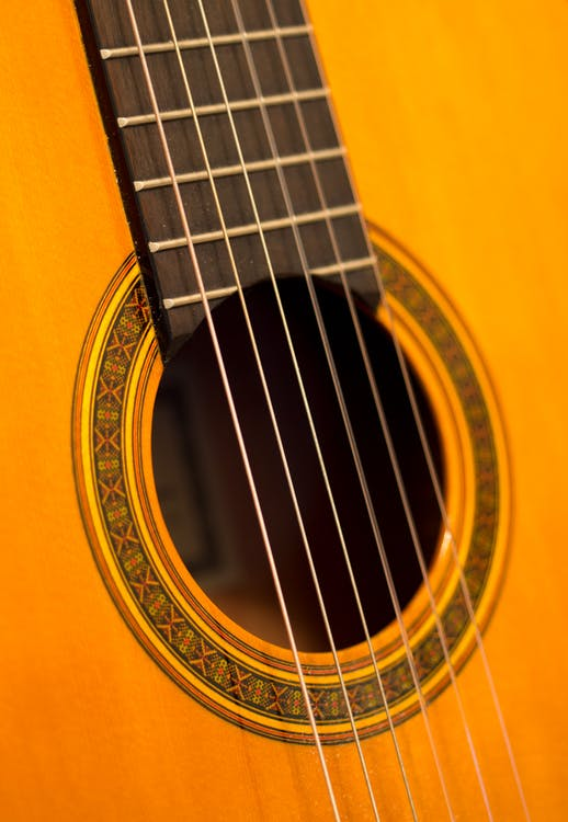 Brown Wooden Guitar