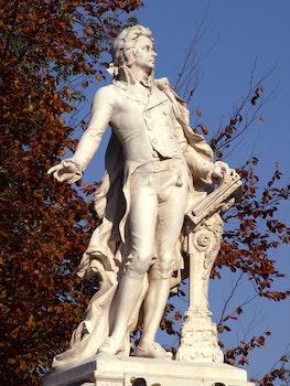 Man in Suit Concrete Statue