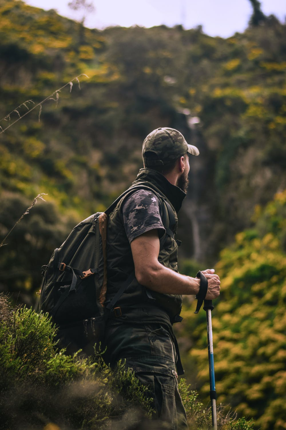 Man standing in the middle of the forest. | Photo: Pexels