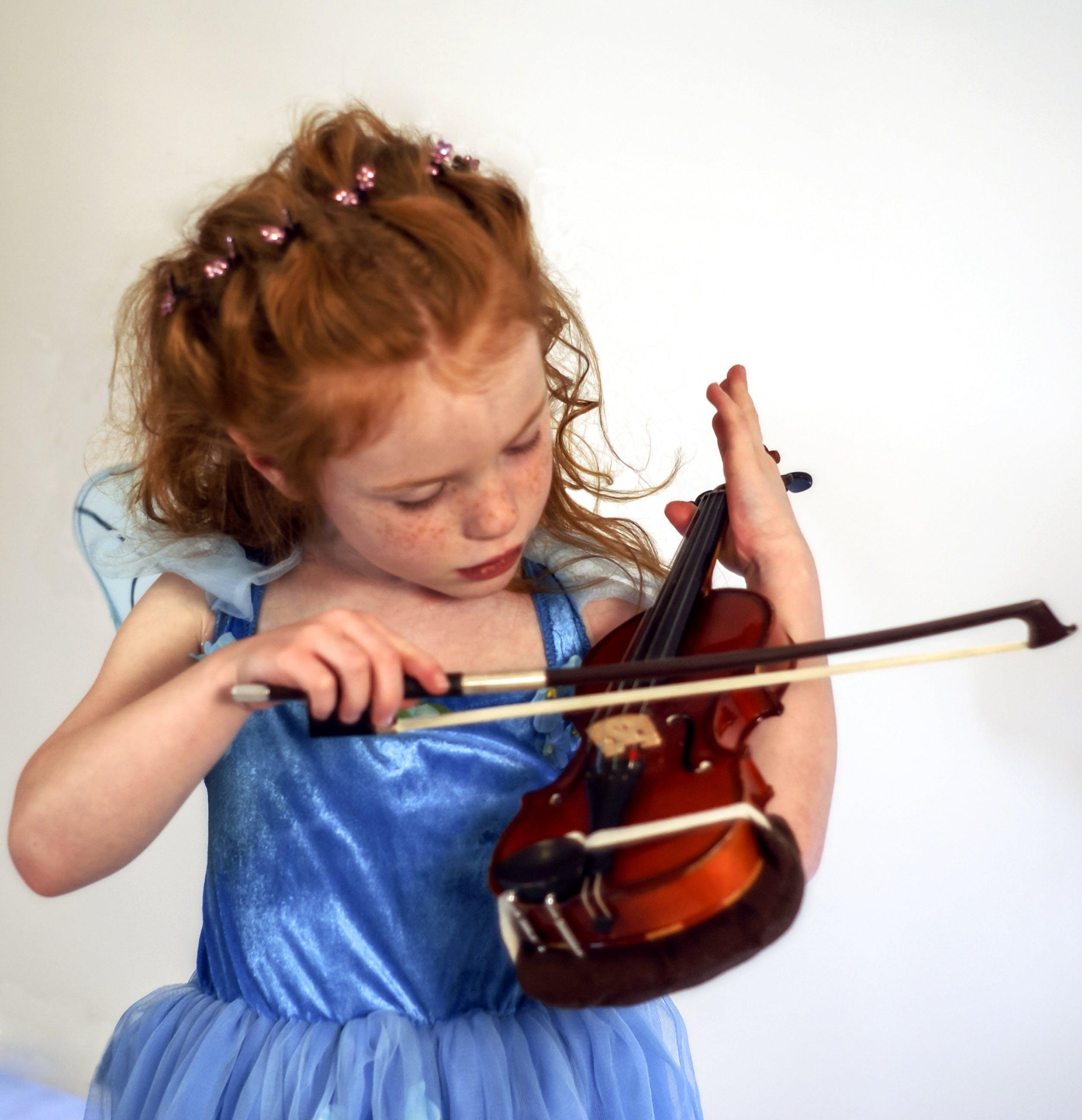 Free stock photo of child, fairy, girl, instrument