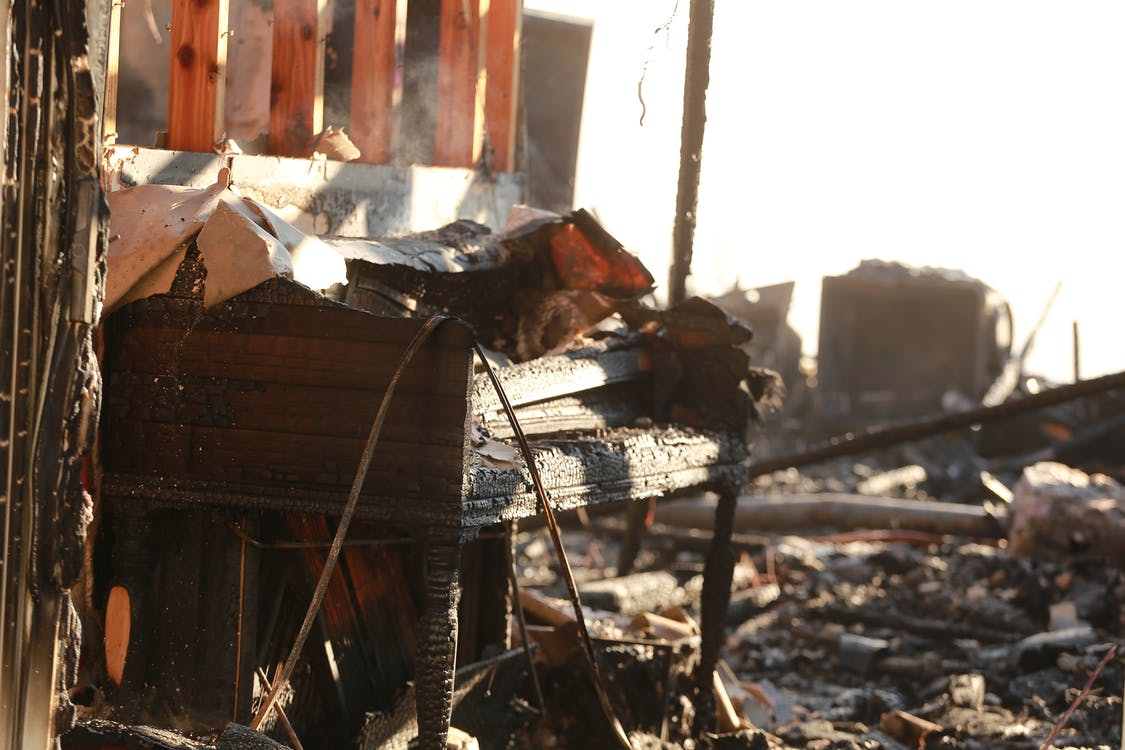 Free stock photo of burnt, damaged, demolished