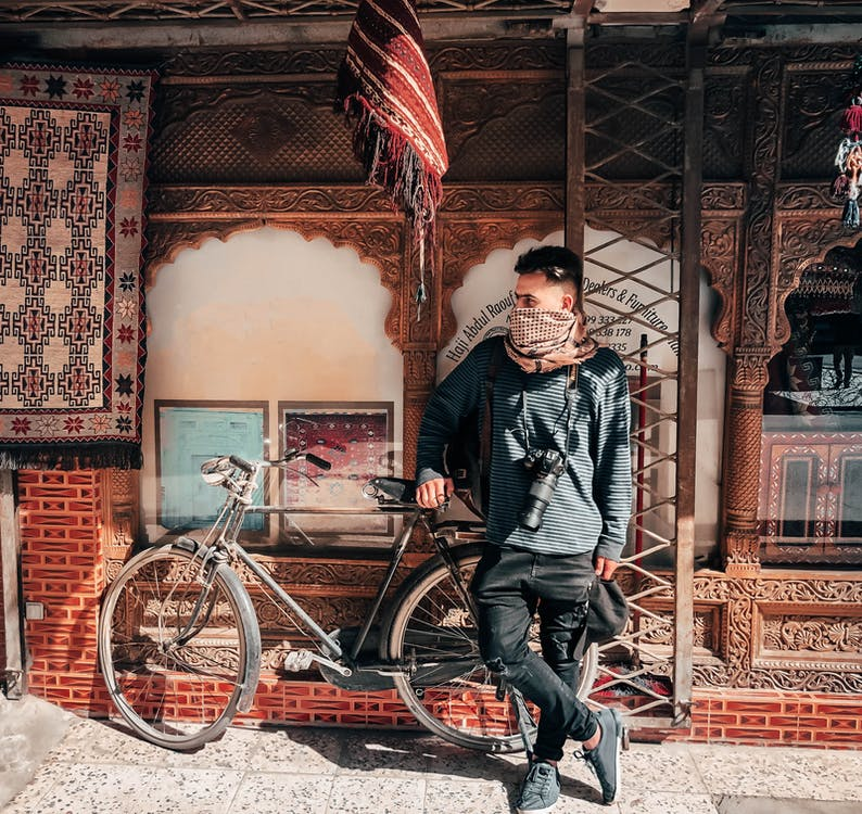 aparat de fotografiat, aparat foto, bicicletă