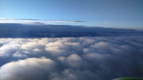 Free stock photo of above, clouds, high