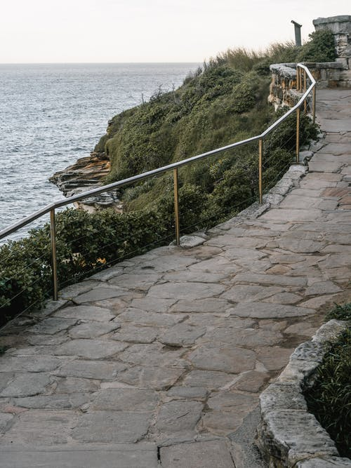 Concrete Pathway With Railings