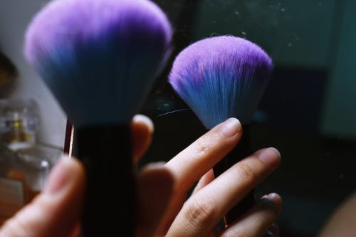 Blue Makeup Brush