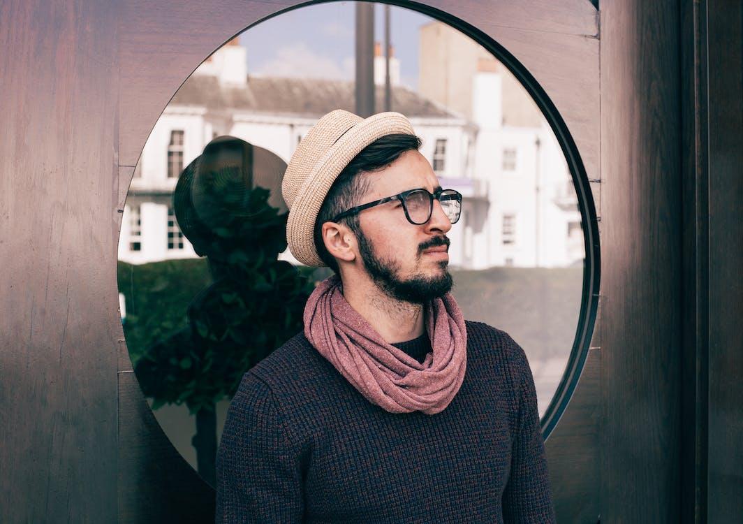 Man Wearing Brown Fedora Hat Photo