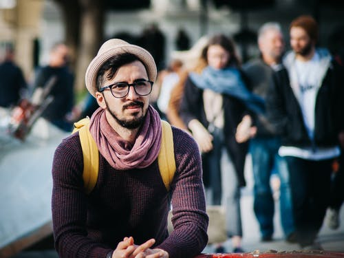 Foto profissional grátis de adulto, amontoado, barba, cético