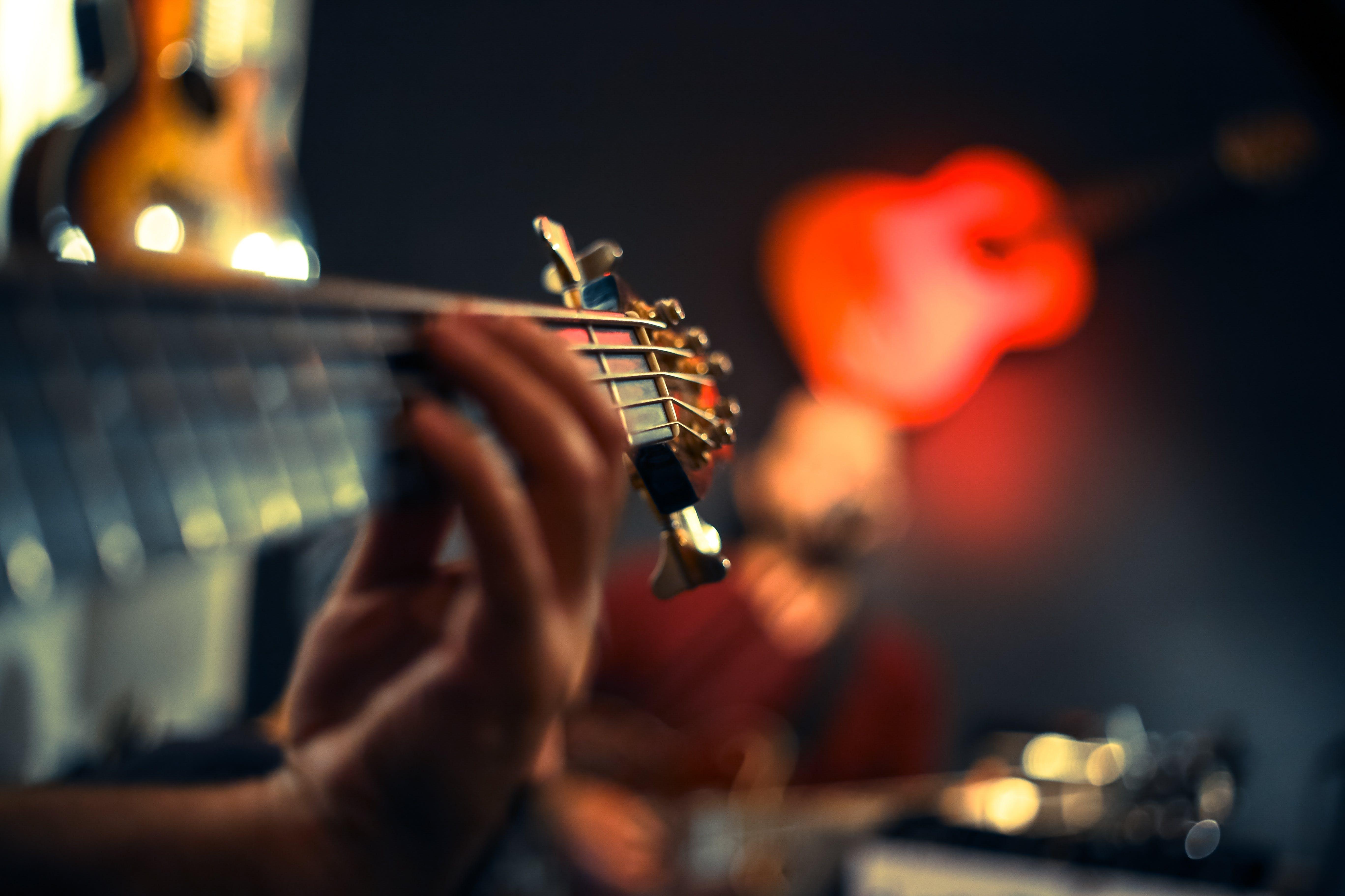 Imagine de stoc gratuită din artist, chitară, chitarist, concentrare