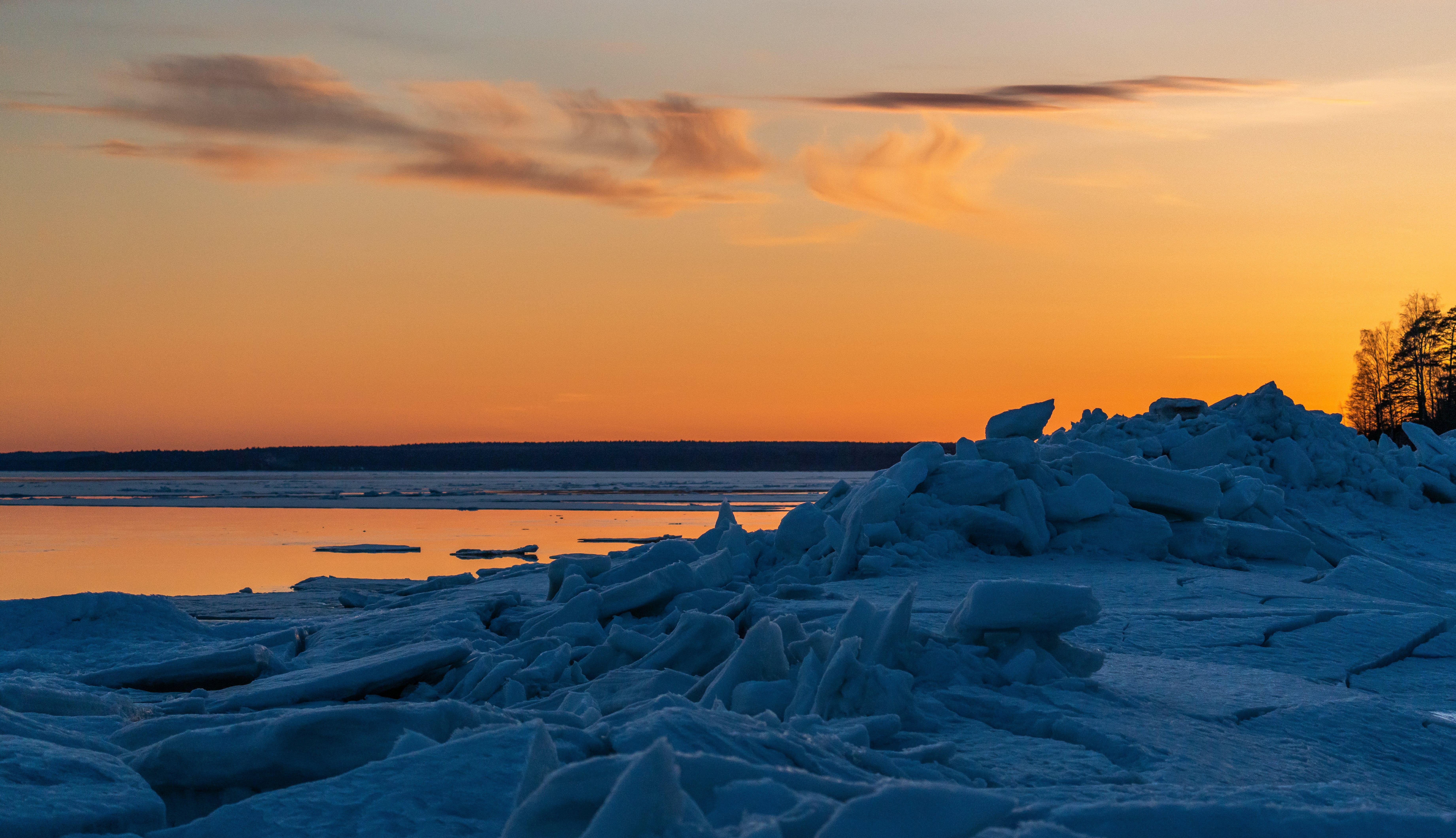 冰, 天空, 日落, 景觀 的 免費圖庫相片