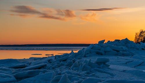 Ingyenes stockfotó ég, jég, naplemente, tájkép témában