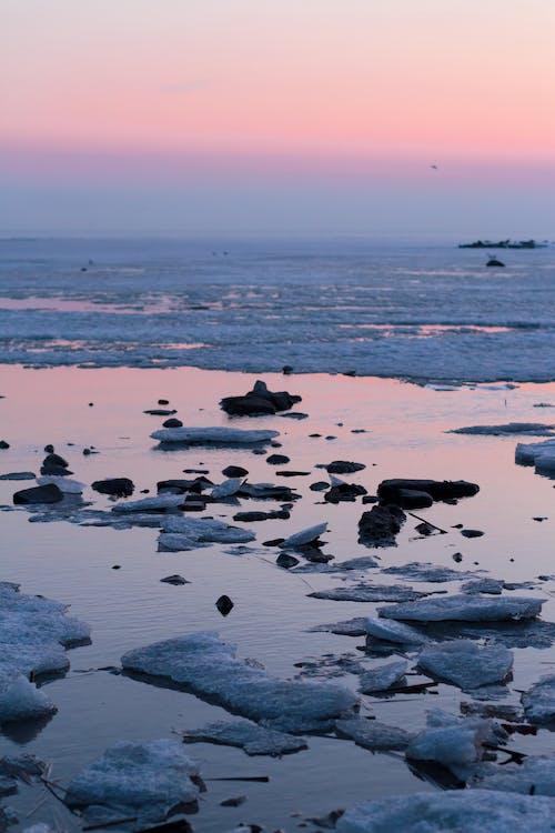 Photos gratuites de aube, bleu, bord de mer, ciel
