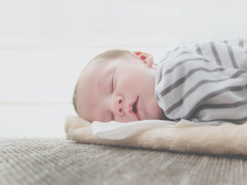 Close-Up Photo of Sleeping Baby