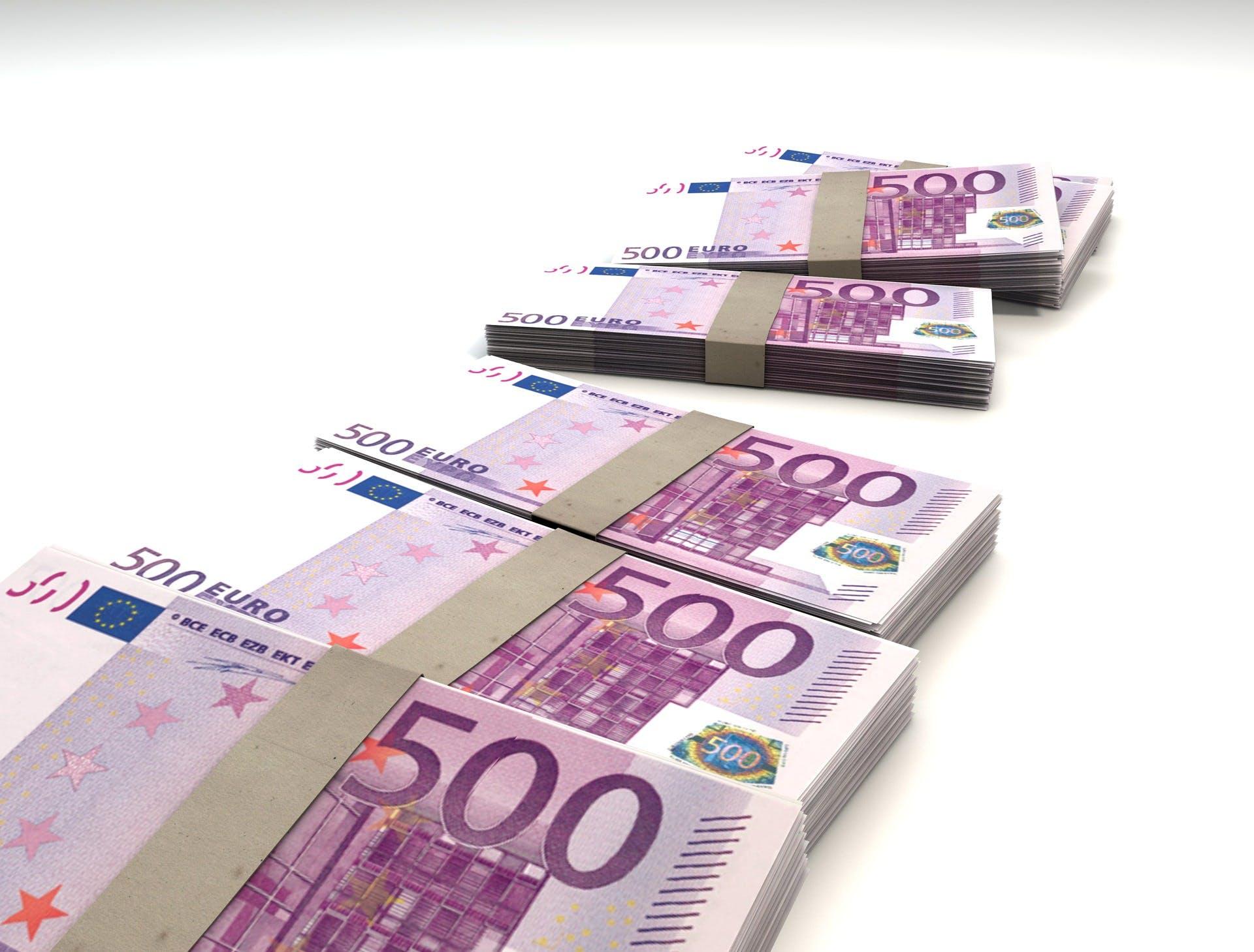 Gratis arkivbilde med 500, avgifter, betale, euro