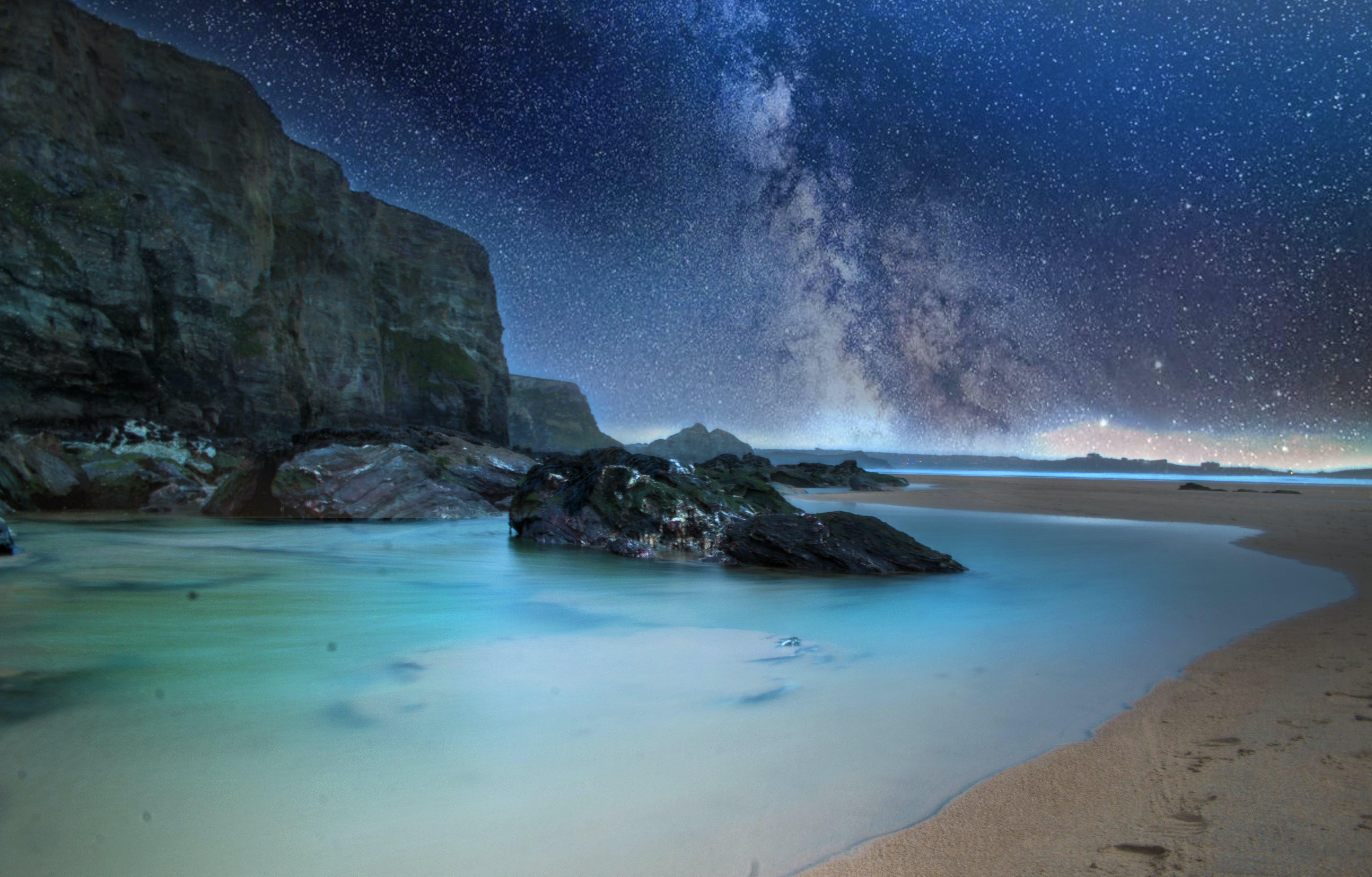 夏天, 夜空, 天空, 山 的 免费素材照片