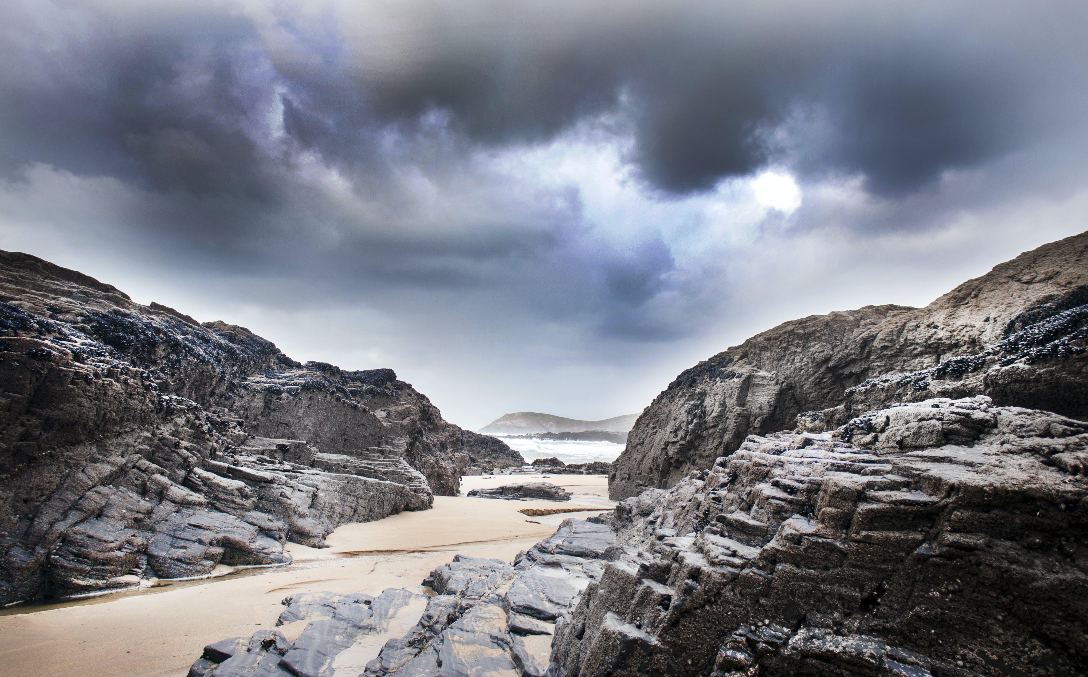 Seashore Sand and Rocks