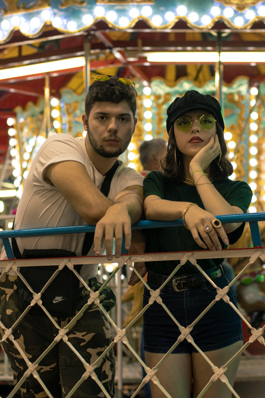 Free stock photo of 20-25 years old man, 20-25 years old woman, amusement park, brazilian man