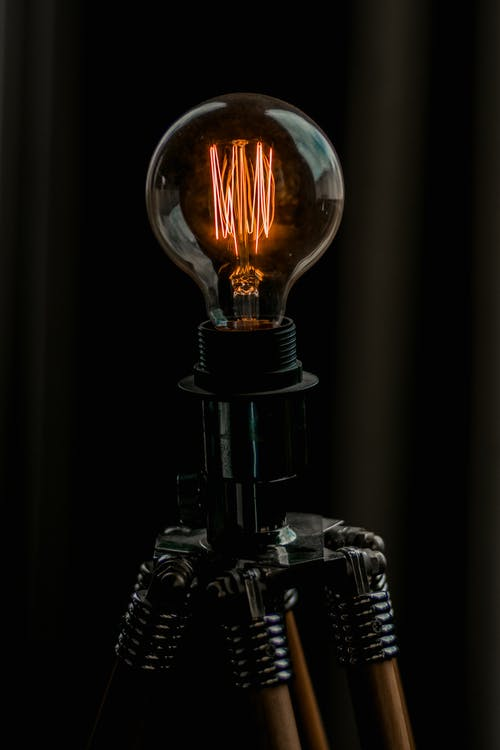 Photo of Turned-on Edison Bulb