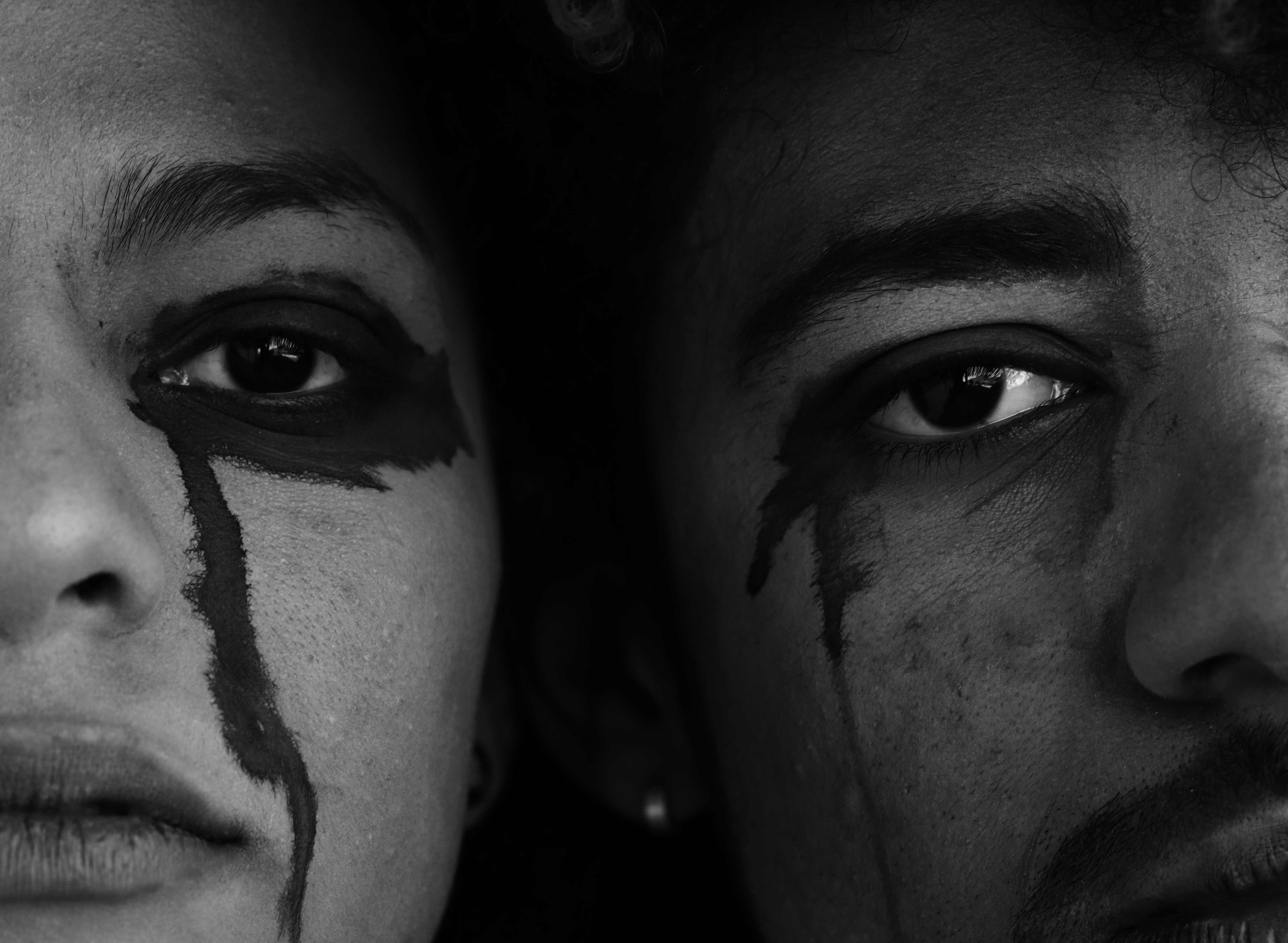 Man and Woman on Grayscale Photography