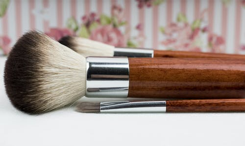 Close-Up Photo of Makeup Brushes