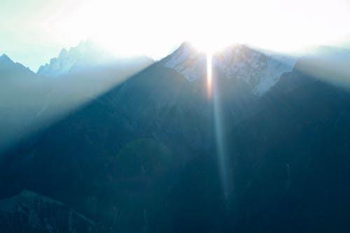 太陽光線, 山, 日出, 藍山 的 免费素材照片