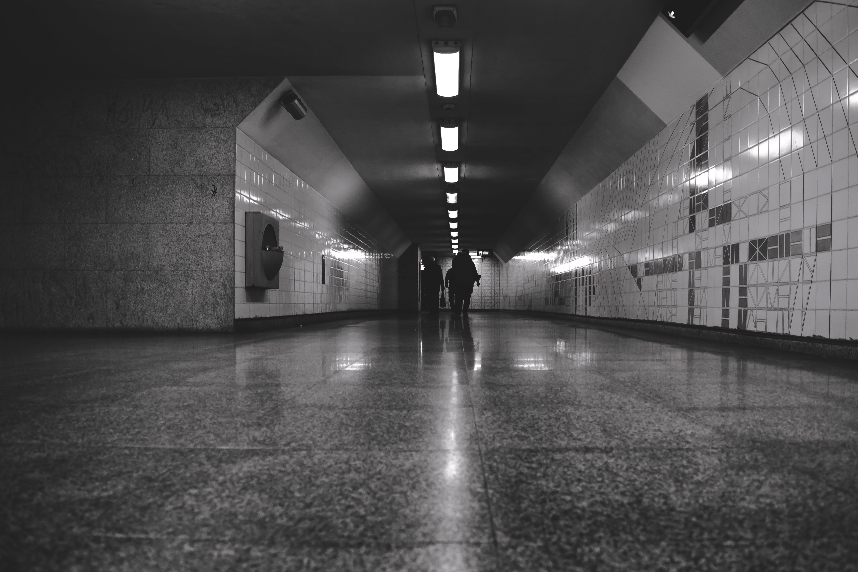 Free stock photo of black, black and white, metro, metro station