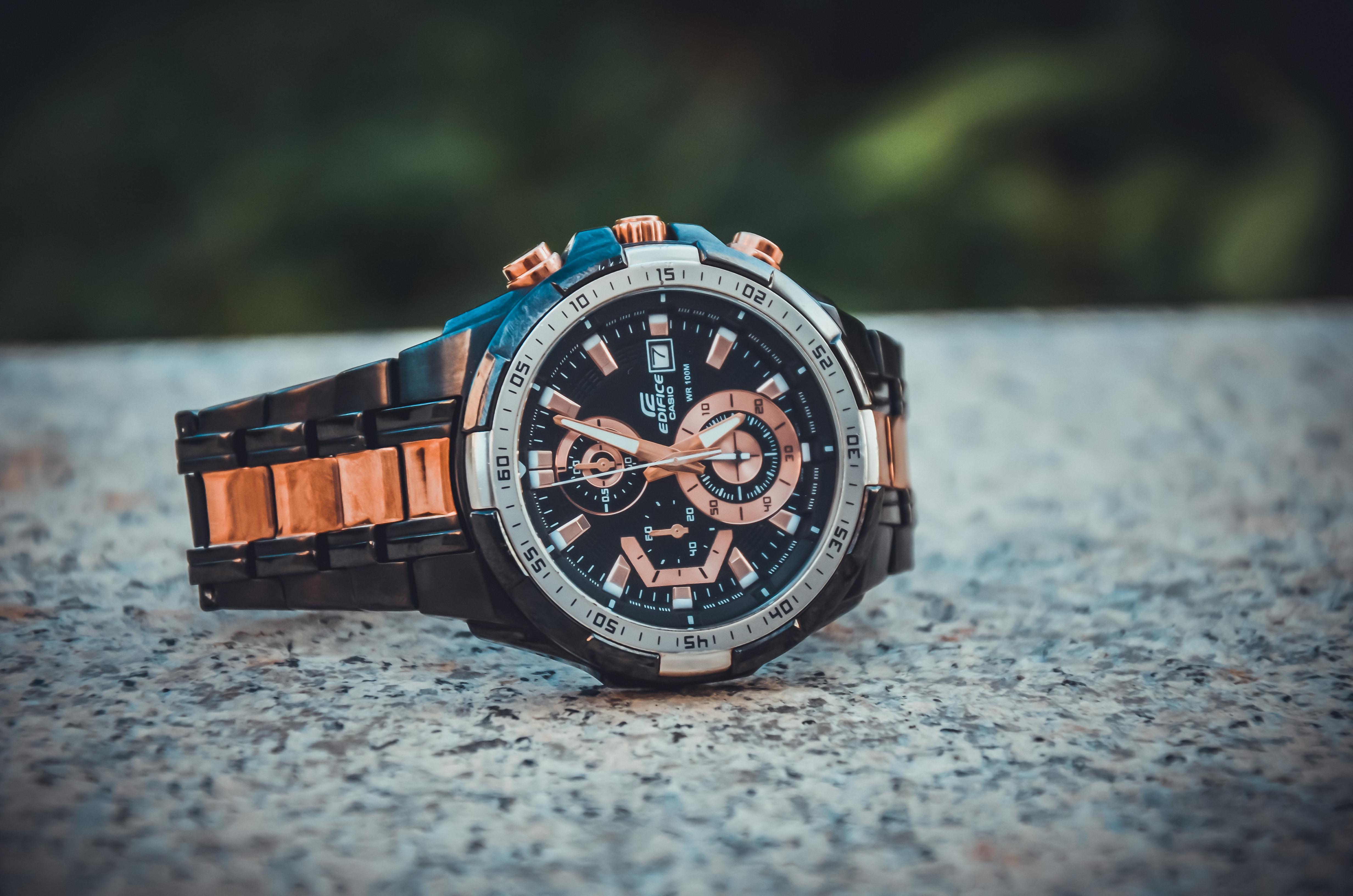 Close-Up Photo of Wristwatch