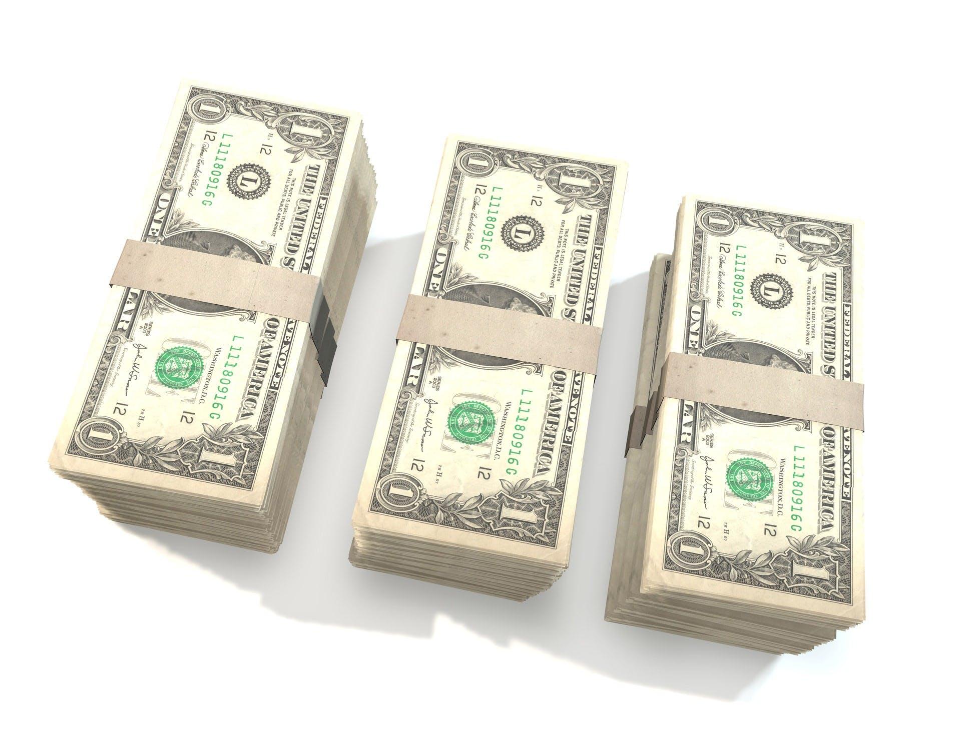 Three 1 Us Dollar Bundles
