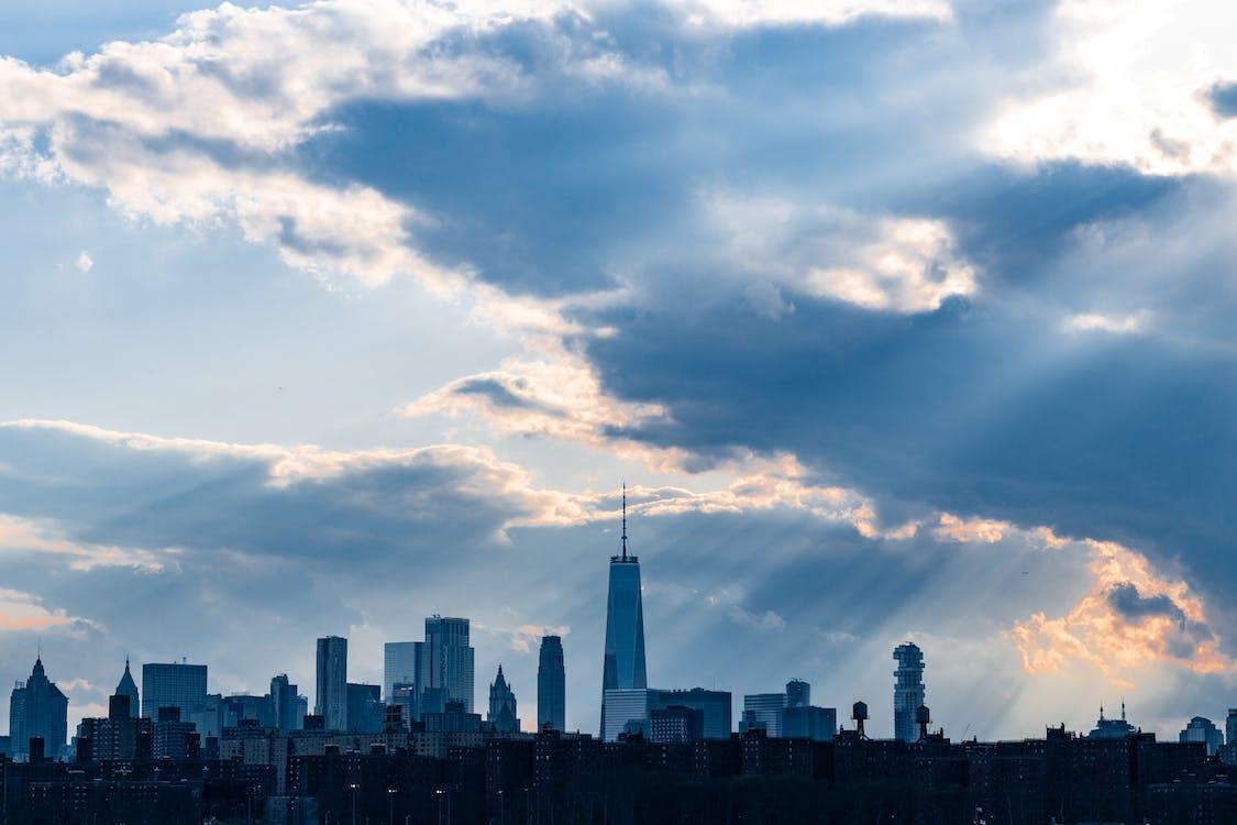 Manhattan, město new york, mrakodrap one world trade center