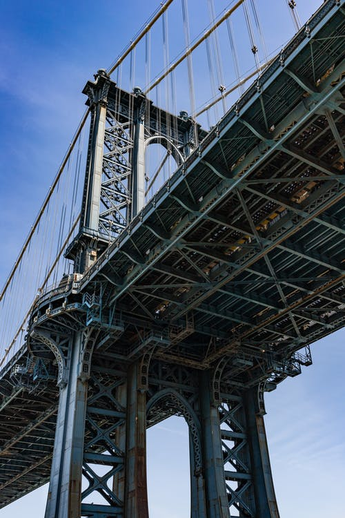 Free stock photo of bridge, brooklyn, new york city, steel bridge