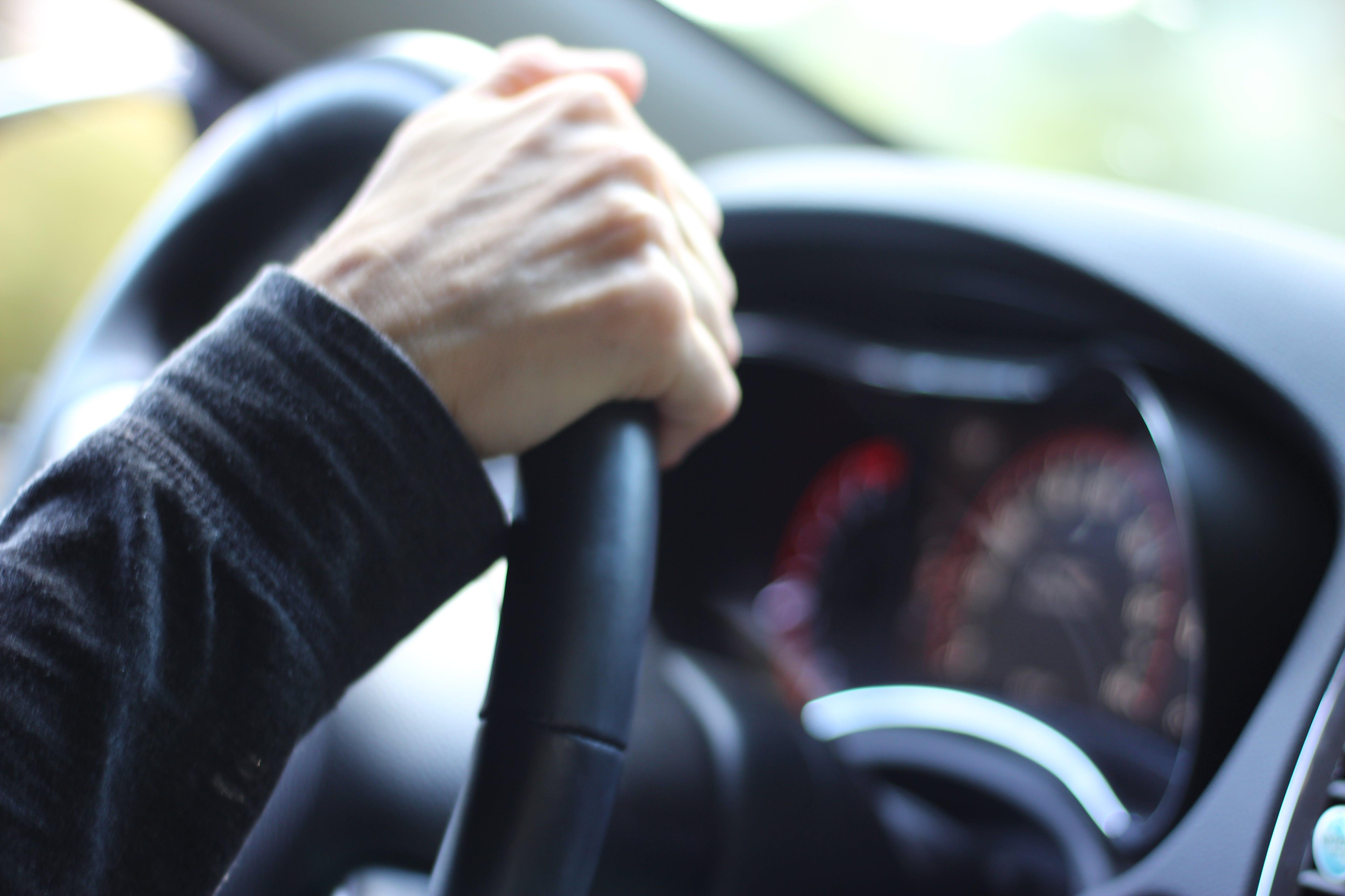 car, driving, hands