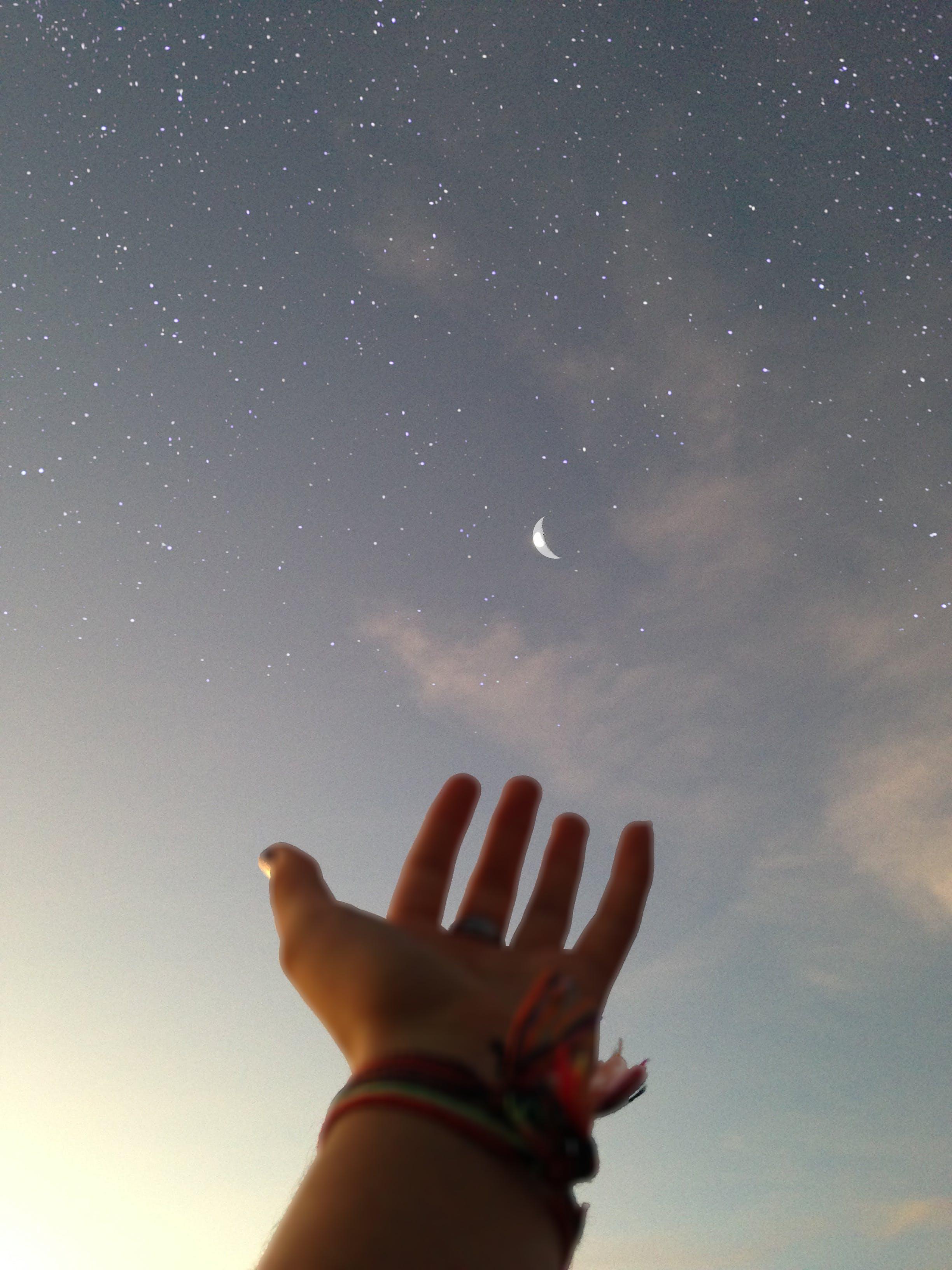 Darmowe zdjęcie z galerii z gwiazdy, gwiaździste niebo, księżyc, outdoorchallenge