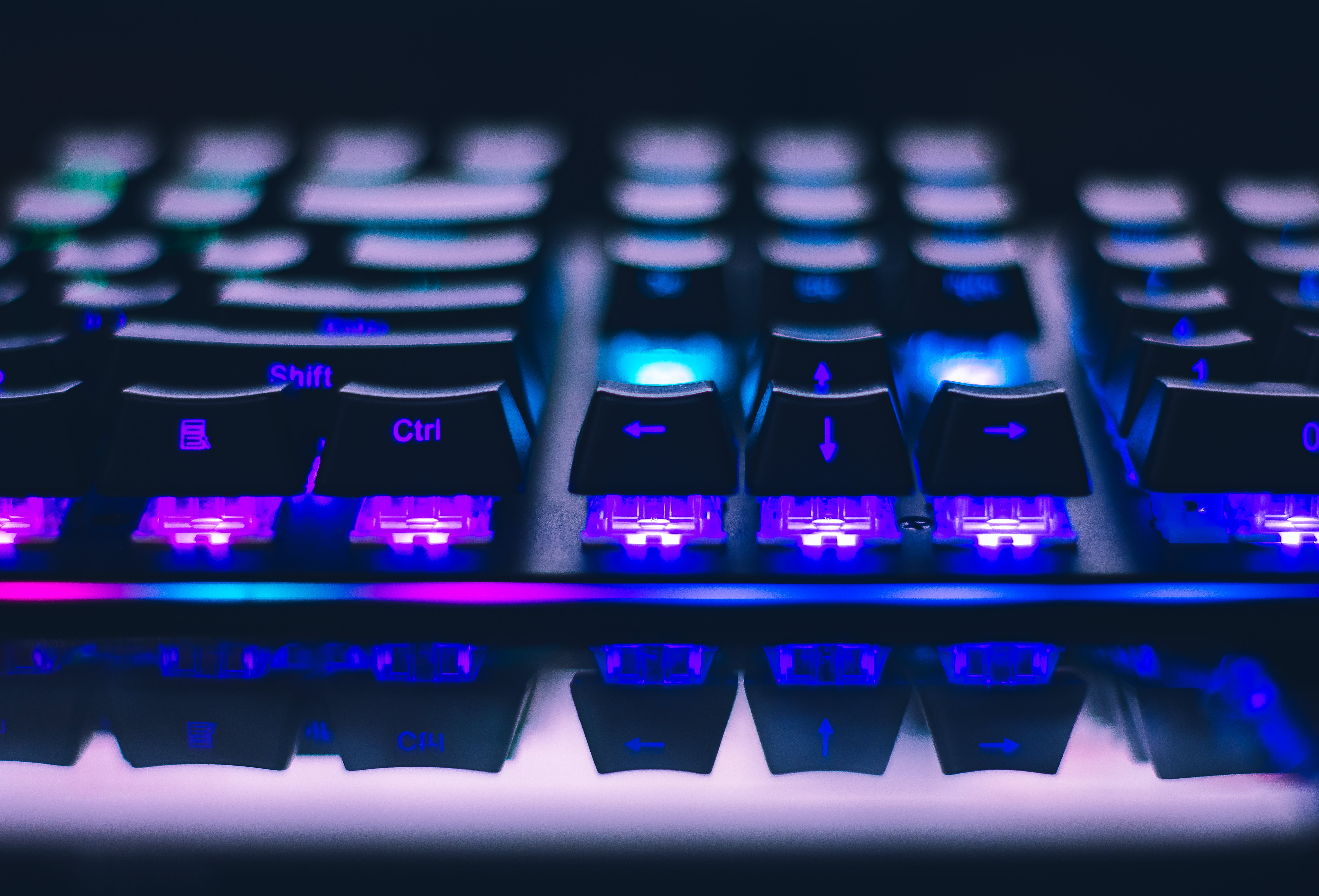 Close-Up Photo of Gaming Keyboard