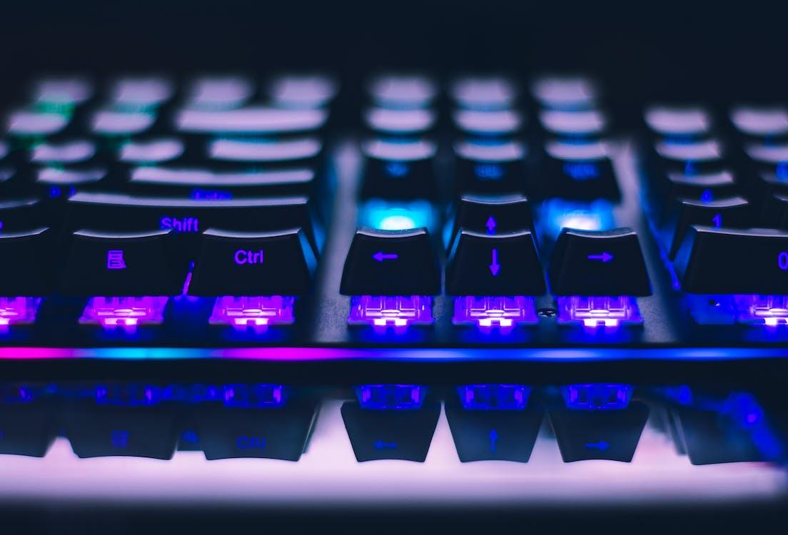 bottoni, concentrarsi, elettronico
