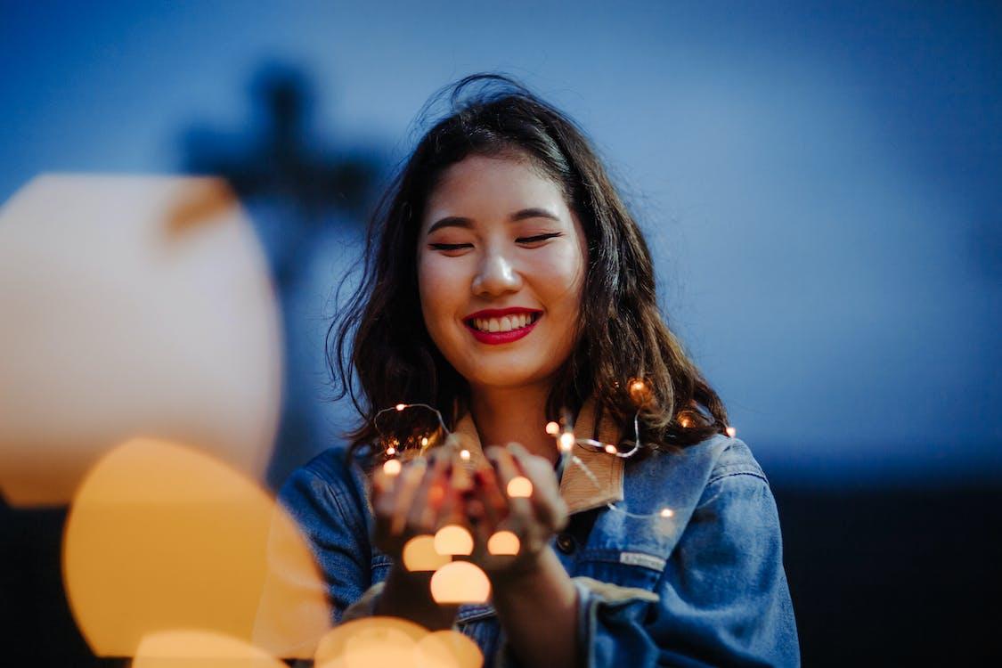 álló kép, ázsiai nő, élvezet