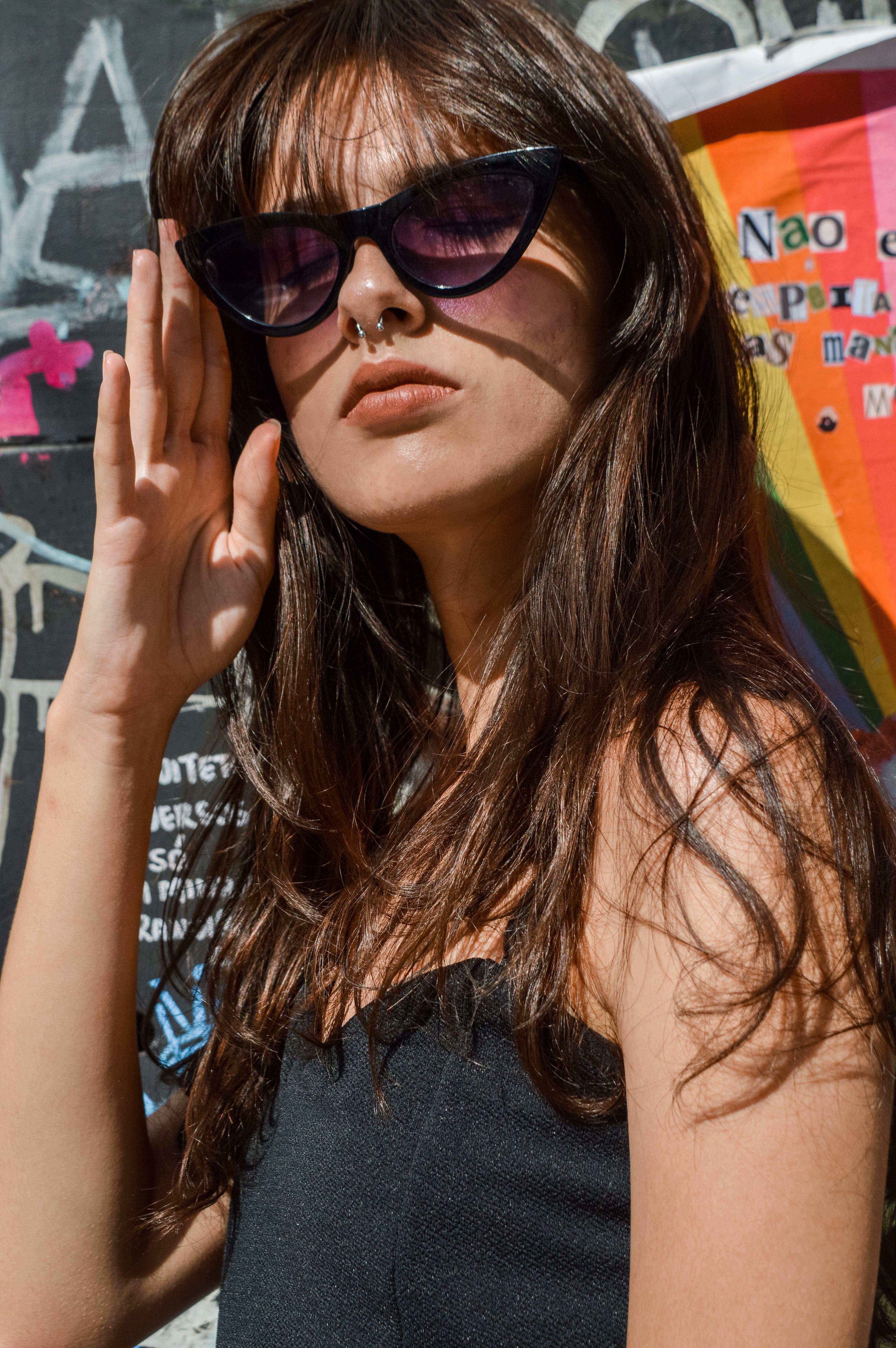 可愛, 墨鏡, 夏天, 女人 的