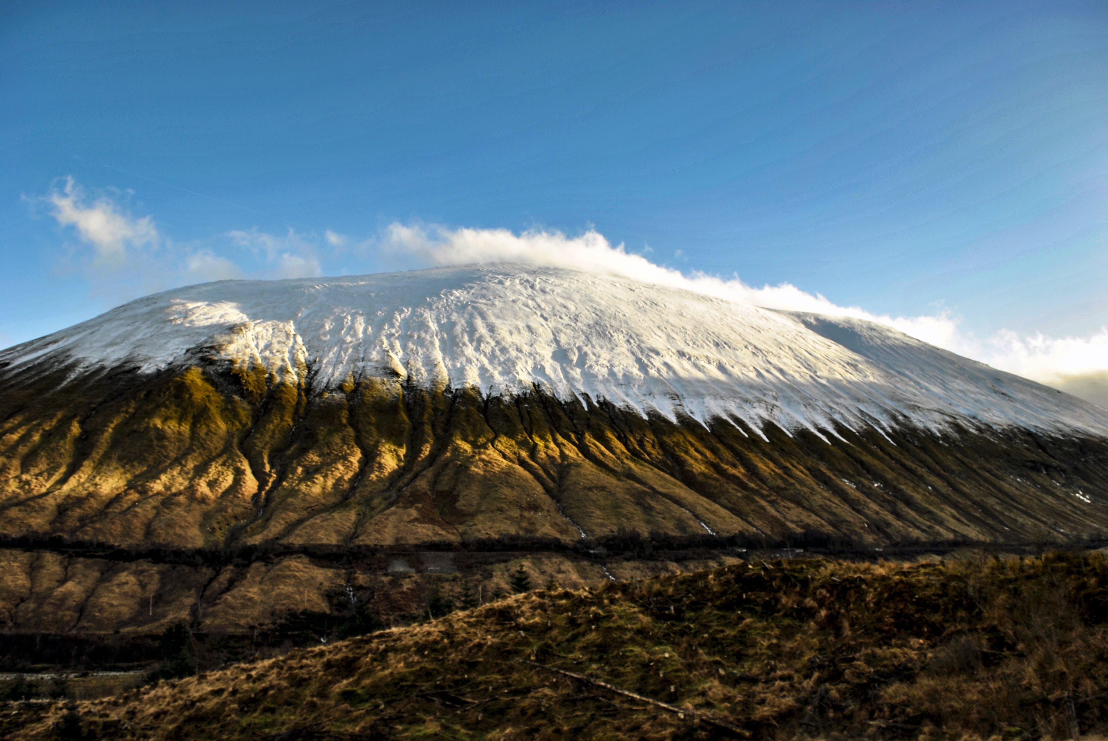 山, 藍天, 雪, 高地 的 免费素材照片