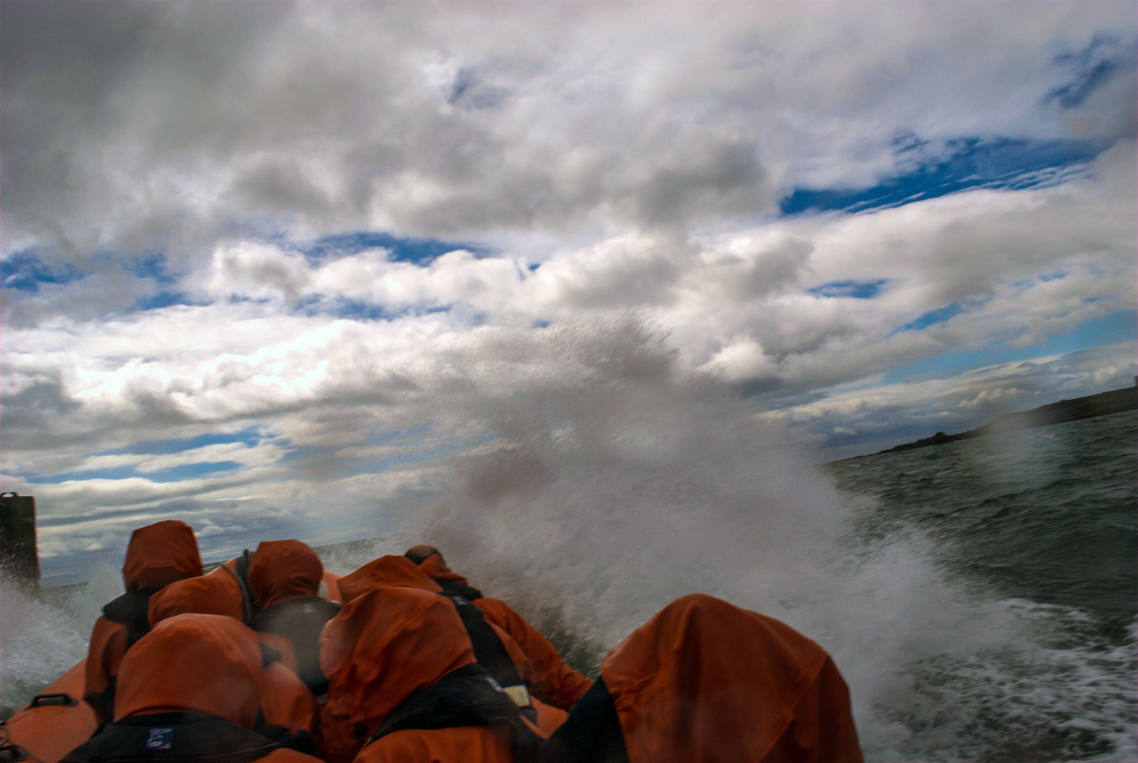冒險, 多雲的, 快艇, 水 的 免费素材照片