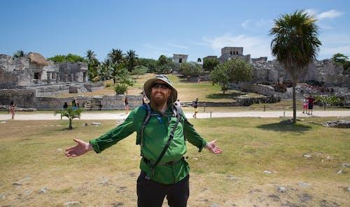 Free stock photo of blue sky, mexico, ruins, tourist