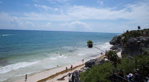 Free stock photo of beach, Blue ocean, blue sky, mexico