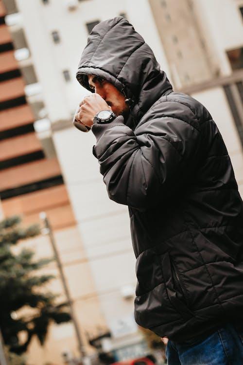 куртка, людина, носити