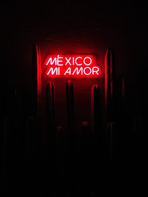 Red Mexico Mi Amor Led Signage
