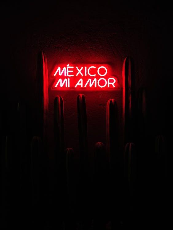 Red Mexico Mi Amor Led Signage