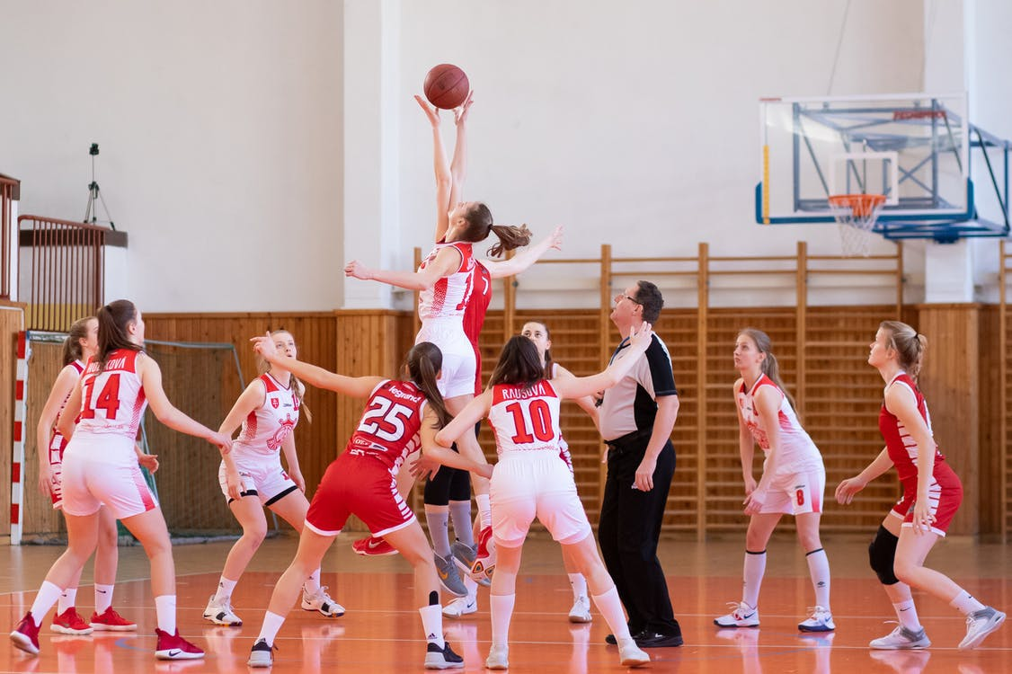 Women Playing Basketball