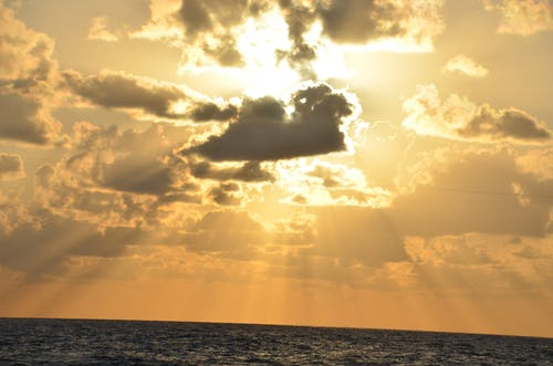 Kostnadsfri bild av gryning, hav, havsområde, himmel