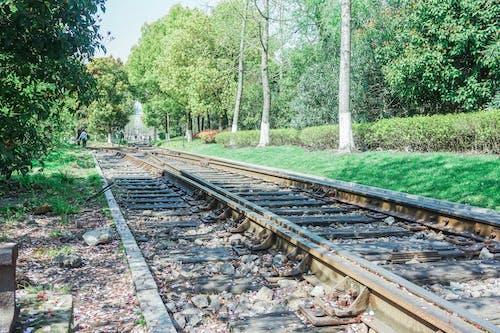 火車, 跑道 的 免费素材照片