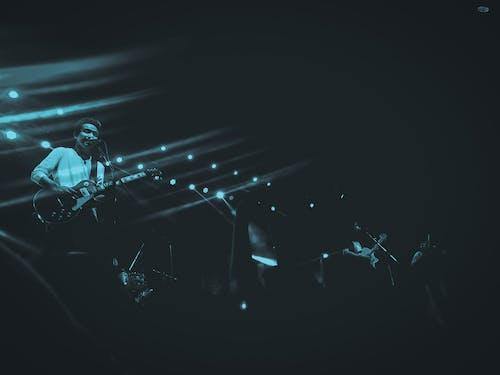 Foto d'estoc gratuïta de actuació, actuació en directe, banda, blanc i negre