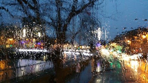 ぼかし, ぼやけて, 夜の街, 街の明かりの無料の写真素材