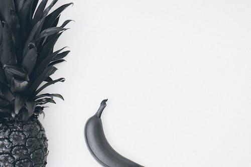 Gratis stockfoto met ananas, banaan, boven het hoofd, copyruimte
