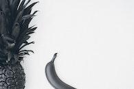art, pineapple, black